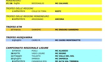 Calendario Regionale Liguria.Calendario Regionale Enduro 2019 Fmi Comitato Regionale