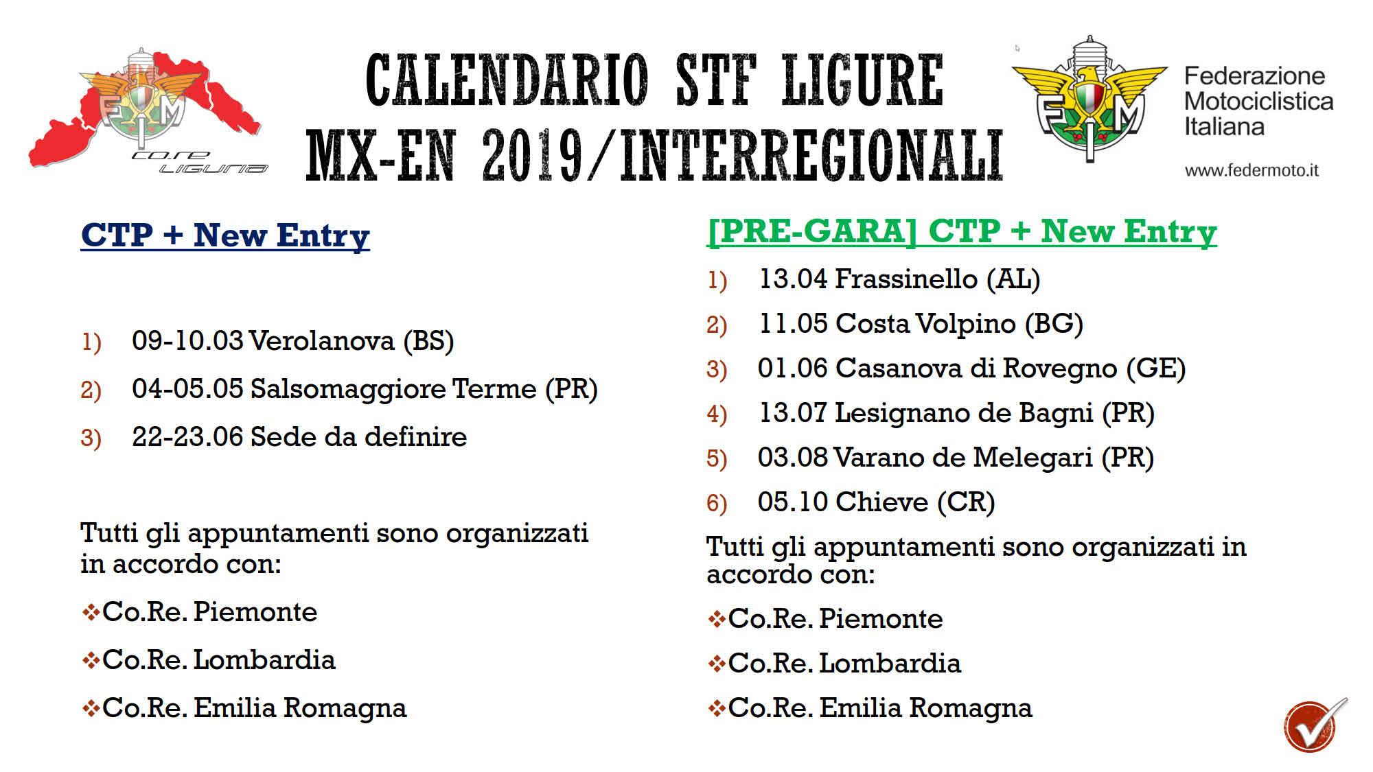 Calendario Attuale.Calendario Settore Tecnico Regionale Ligure Mx En 2019 Fmi